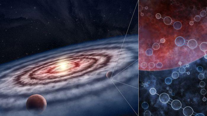 Astrônomos mostram elementos orgânicos em cinco discos de formação de planetas