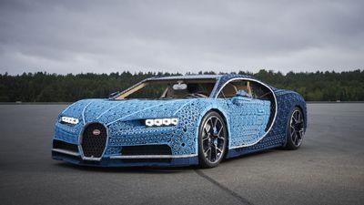 LEGO constrói carro Bugatti Chiron com milhões de peças
