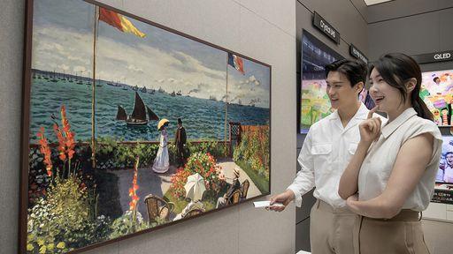Samsung lança nova smart TV The Frame de 85 polegadas que vira obra de arte
