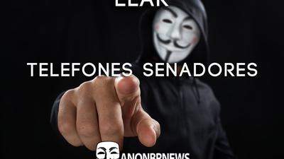 Anonymous divulga lista com telefones de senadores brasileiros