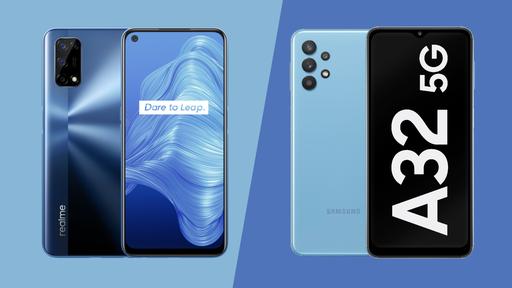 Realme 7 5G vs Samsung Galaxy A32 5G: qual intermediário 5G compensa mais?