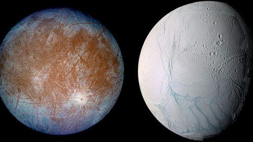 Europa ou Encélado: qual lua tem mais chances de abrigar vida microbiana?
