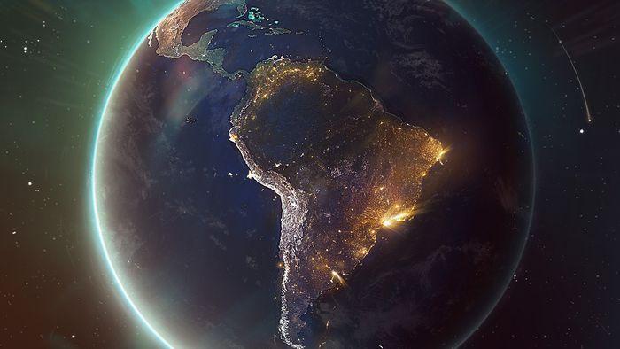 Tem Na Web - Este é o Brasil visto do alto da Estação Espacial Internacional; veja fotos