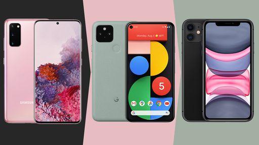 Pixel 5 vs Galaxy S20 vs iPhone 11: quem leva a melhor?
