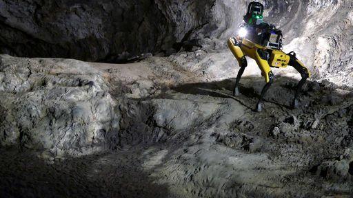 """""""Cão-robô"""": Au-Spot poderá explorar a superfície e as cavernas de Marte"""