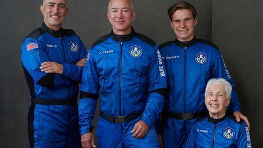 Voo de Jeff Bezos ao espaço com a Blue Origin vira isca para golpes com Bitcoins