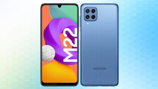 Galaxy M22 ganha site oficial e terá 4 GB de RAM e tela de 90 Hz