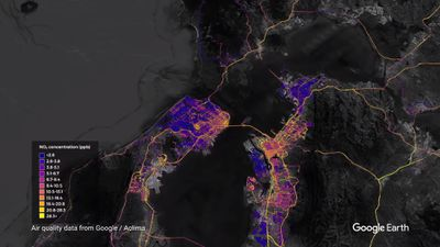 Google está usando o Street View e Earth para mapear os níveis de poluição