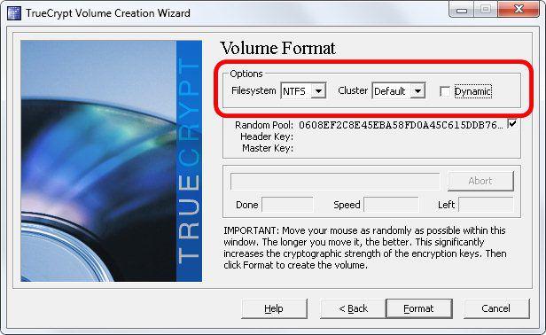9 - Formatação do arquivo - Truecrypt
