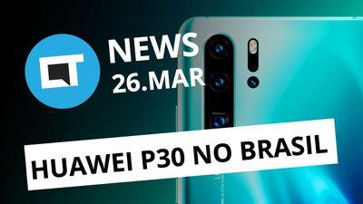 Huawei volta ao Brasil com P30; Novo carregamento rápido da Xiaomi e + [CT News]