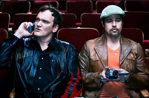 Tarantino e Brad Pitt no cinema