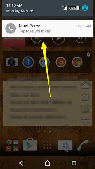 Alternando chamadas Facebook Messenger Android
