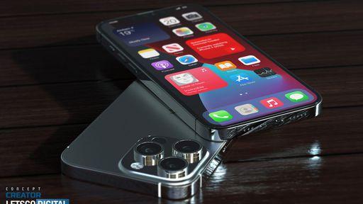 iPhone 13 Pro surge em imagens 3D e animação conceitual