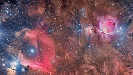 Aglomerados estelares podem ser formados pela colisão de nuvens de gás e poeira