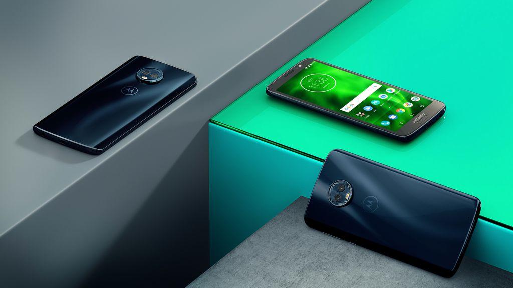 Moto G6 é a versão padrão da linha, contando com câmera traseira dupla e display Full HD. Preço é de R$ 1.199