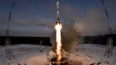 Algo parece ter dado errado no lançamento do foguete Soyuz, da Rússia