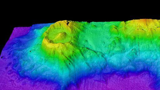 """Antigo vulcão submarino semelhante ao """"Olho de Sauron"""" é descoberto na Austrália"""