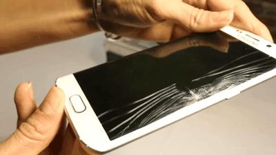 Tela do Galaxy S6 Edge está se quebrando sem motivo aparente; usuários reclamam