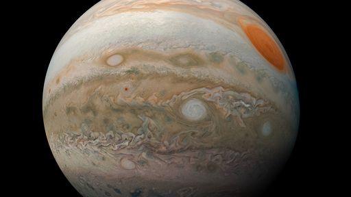 Sonda Juno mostra beleza de Júpiter com riqueza de detalhes em nova fotografia