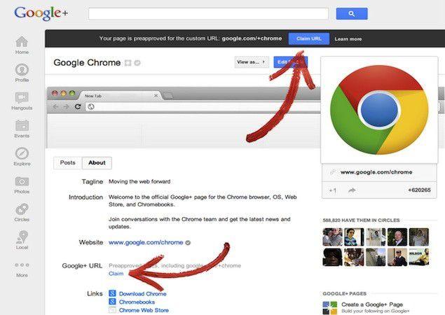 Google  URL personalizada
