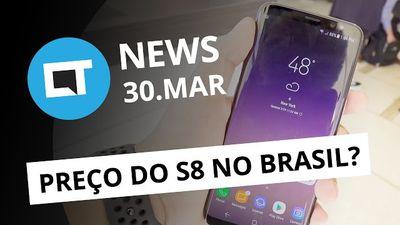 Supostos preços do Galaxy S8 no Brasil; atualização iOS; satélite da SES e + [CT
