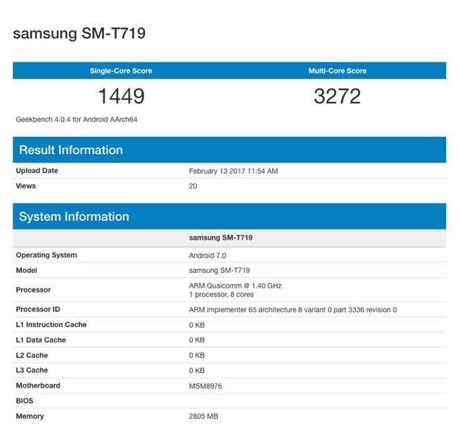 Novo modelo listado no Geekbench entrega que a Samsung também está preparando uma versão de 8 polegadas do novo Galaxy Tab S2