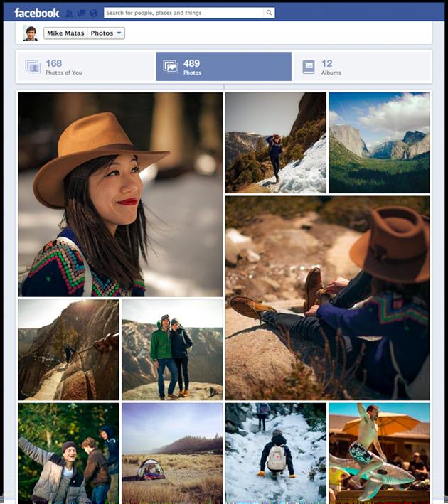 Nova visualização de fotos no Facebook