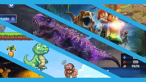 5 jogos de dinossauro para celular